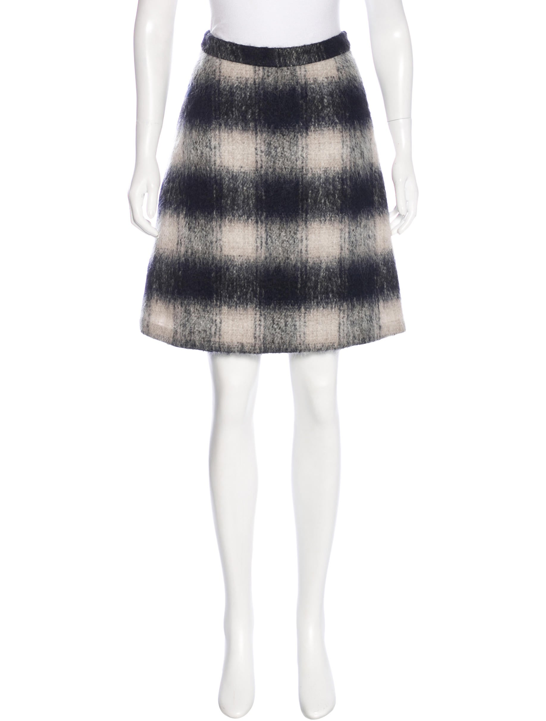 a l c plaid a line skirt clothing wa434377 the realreal