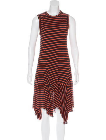 A.L.C. Linen Striped Dress None