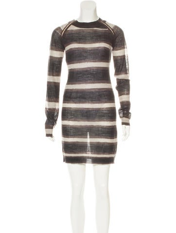 A.L.C. Wool Striped Dress None