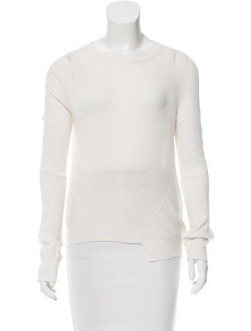 A.L.C. Cropped Asymmetrical Sweater None