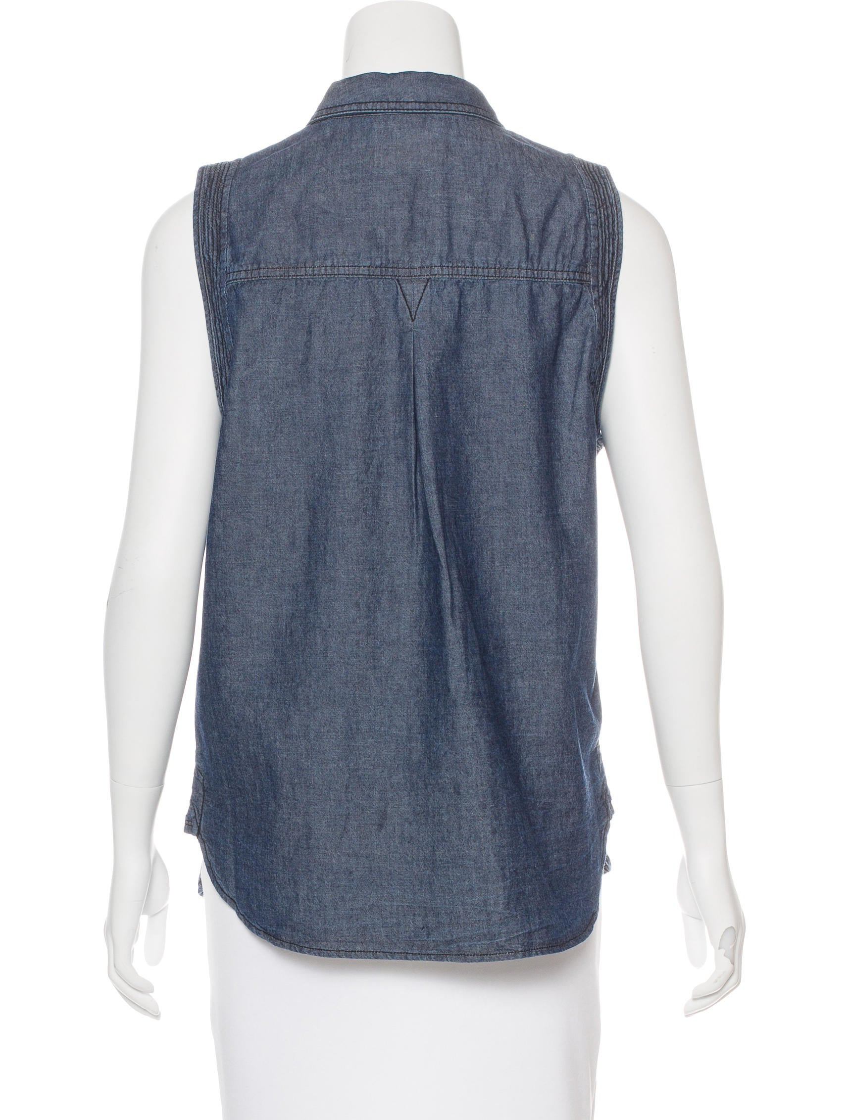 A l c chambray collared top w tags clothing wa435036 for Chambray top