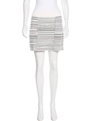 A.L.C. Striped Knit Skirt None
