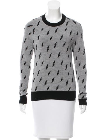 A.L.C. Lightweight Intarsia Sweater None