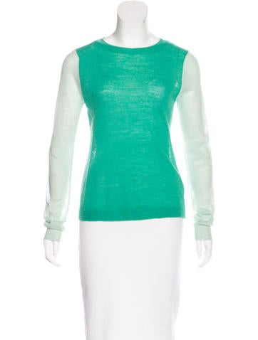A.L.C. Long Sleeve Stretch-Knit Sweater None