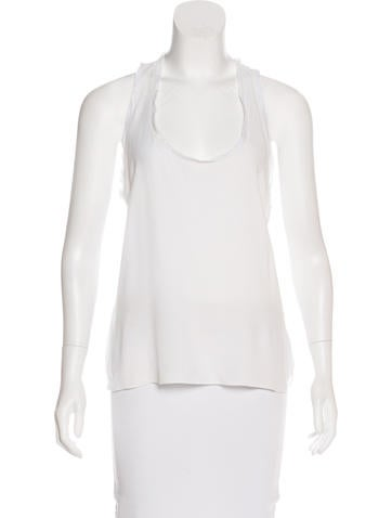 A.L.C. Sleeveless Scoop Neck Top None