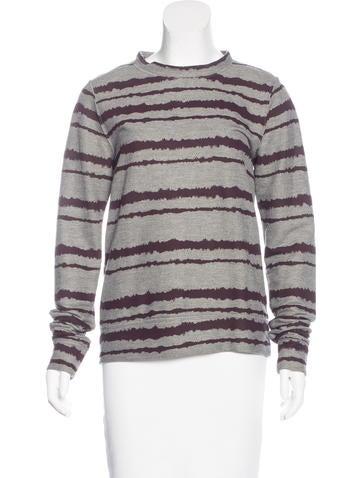 A.L.C. Printed Crew-Neck Sweatshirt None