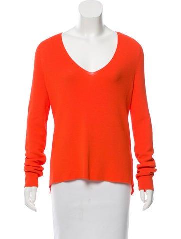 A.L.C. Long Sleeve Rib Knit Sweater None