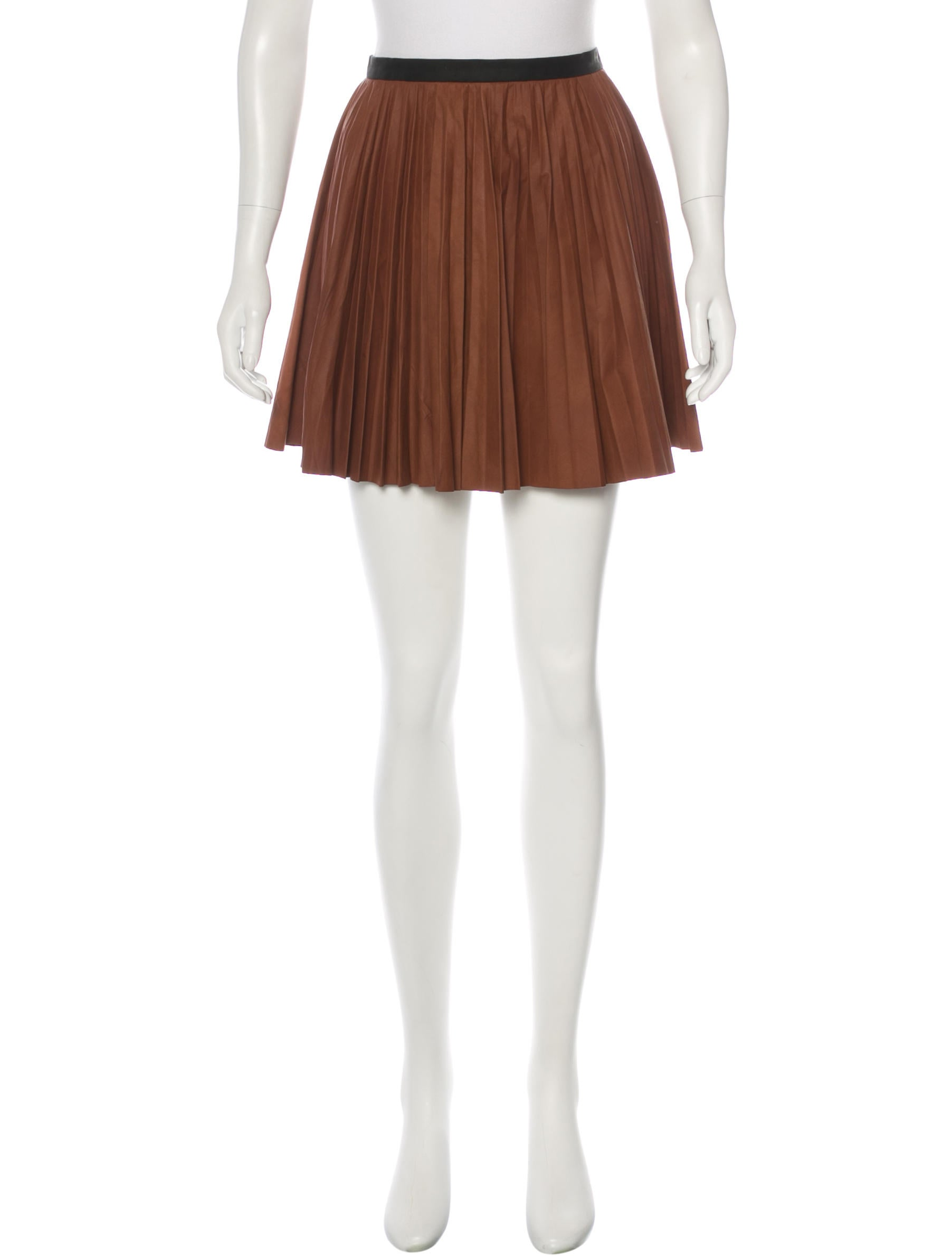 a l c pleated leather skirt clothing wa435859 the