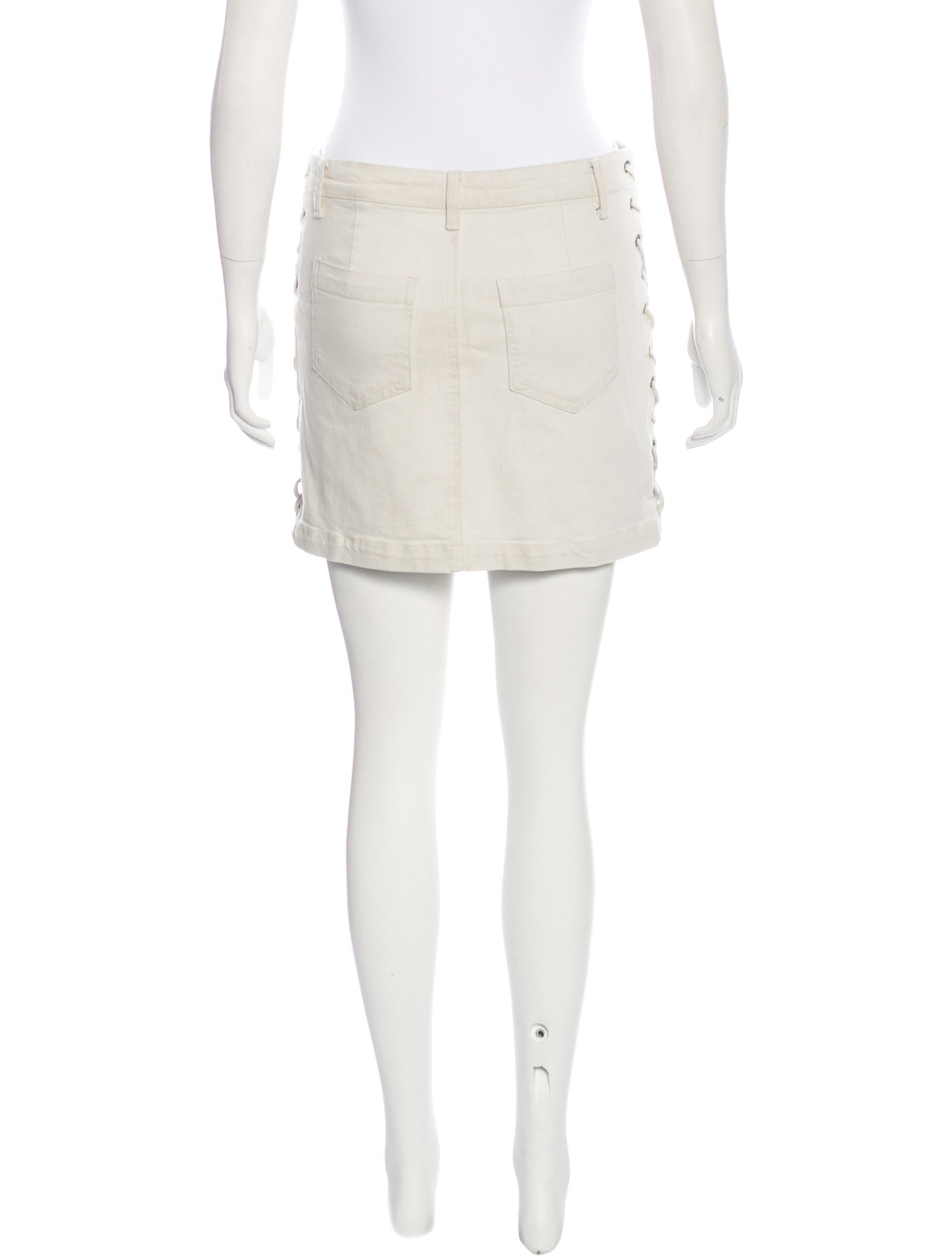 a l c lace up denim skirt clothing wa436052 the