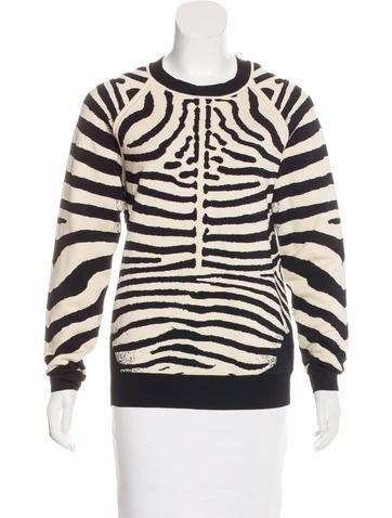 A.L.C. Jacquard Zebra Pattern Sweater None