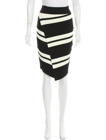 A.L.C. Asymmetrical Stripe Skirt None