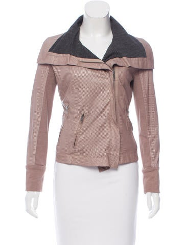 A.L.C. Leather Zip-Up Jacket None