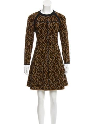 A.L.C. Jacquard Sweater Dress None