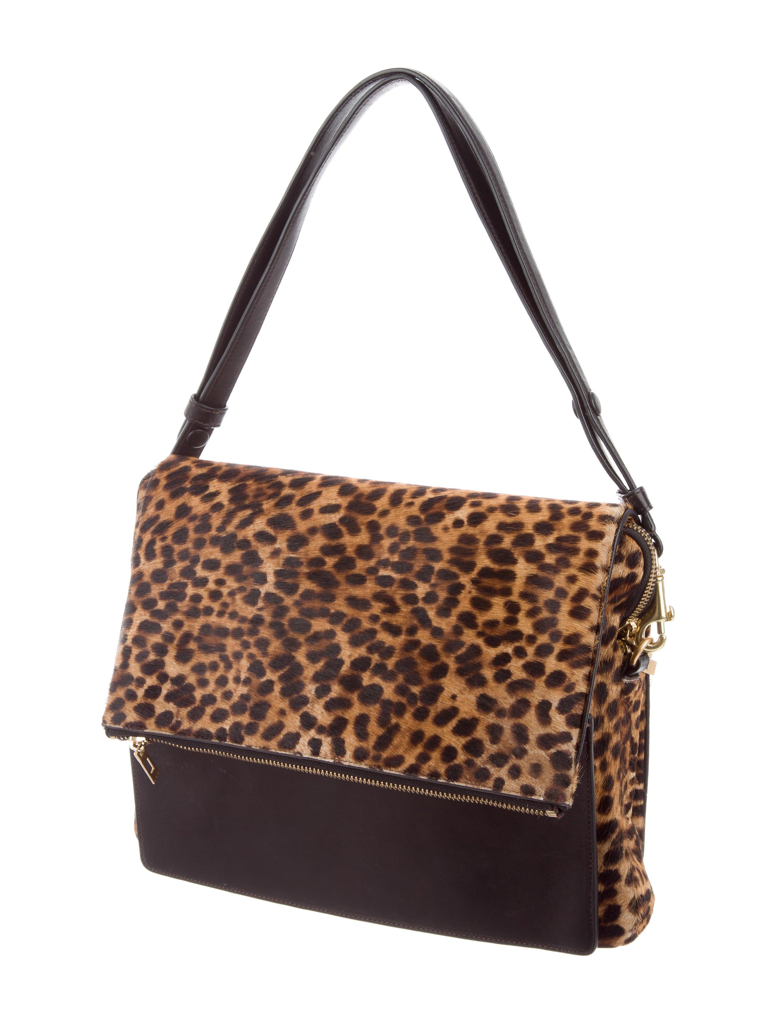 A L C Leopard Print Ponyhair Bag Handbags Wa436673