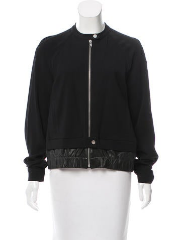 A.L.C. Leather-Accented Bomber Jacket None