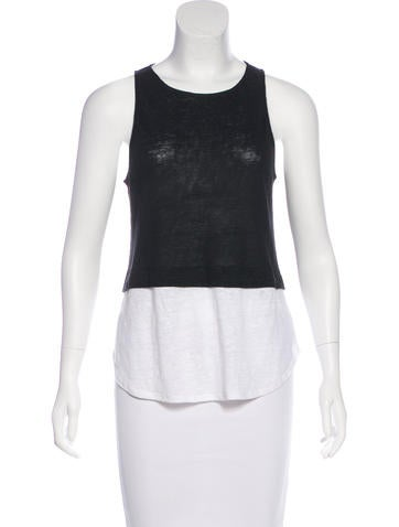 A.L.C. Sleeveless Colorblock Top None