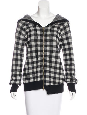 A.L.C. Patterned Zip-Up Jacket None