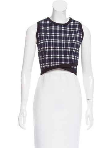 A.L.C. Plaid Cropped Top None