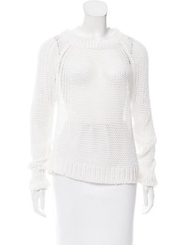 A.L.C. Open Knit Long Sleeve Sweater None