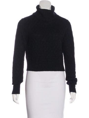A.L.C. Cropped Wool-Blend Sweater None