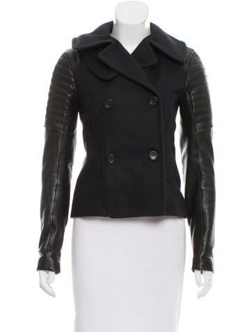 A.L.C. Wool and Leather Biker Jacket None