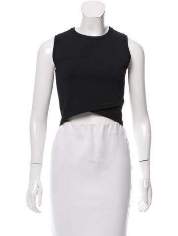A.L.C. Sleeveless Crop Top None