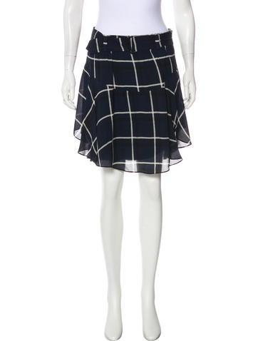 a l c tartan knee length skirt clothing wa439162