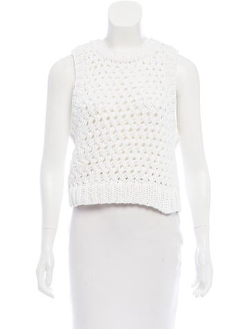 A.L.C. Open Knit Sleeveless Top None