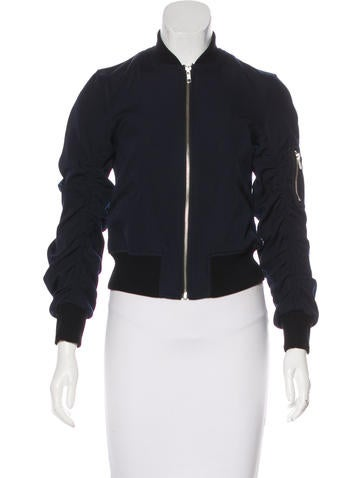 A.L.C. Ruched Bomber Jacket None