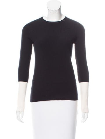 A.L.C. Wool Colorblock Sleeve Sweater None