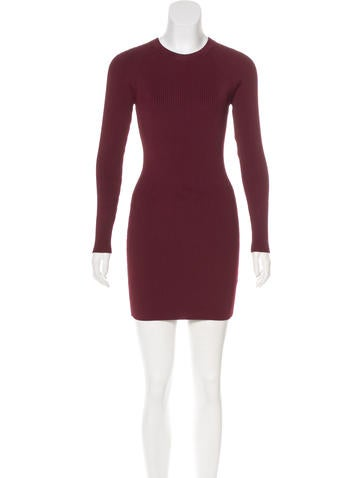 A.L.C. Rib Knit Bodycon Dress None