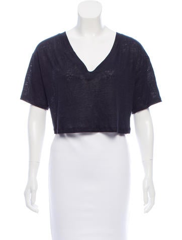 A.L.C. Linen Crop Top w/ Tags None