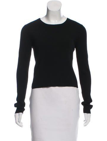A.L.C. Cropped Rib Knit Sweater None