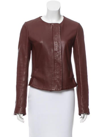 A.L.C. Cropped Leather Jacket None