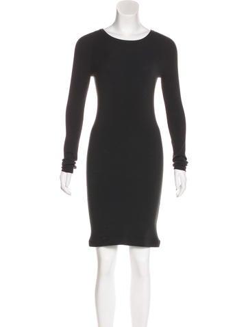 A.L.C. Rib Knit Long Sleeve Dress None