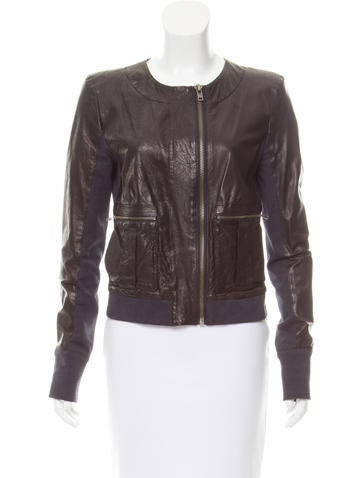 A.L.C. Lightweight Leather Jacket None