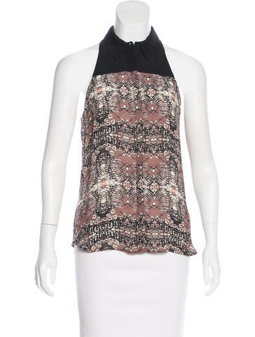 A.L.C. Silk Printed Top None