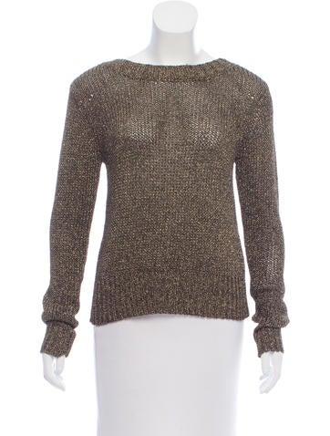 A.L.C. Metallic Lace-Up Sweater None