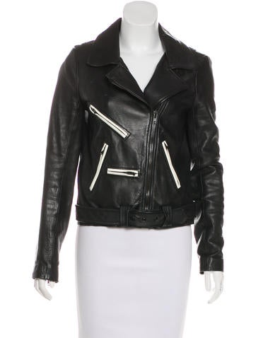 A.L.C. Leather Biker Jacket None