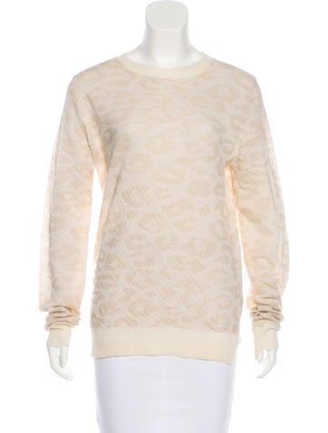 A.L.C. Wool Leopard Sweater None