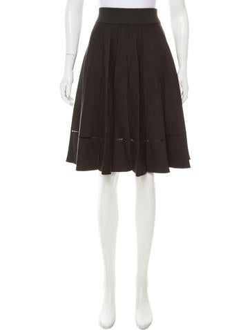 A.L.C. Knee-Length Pleated Skirt None