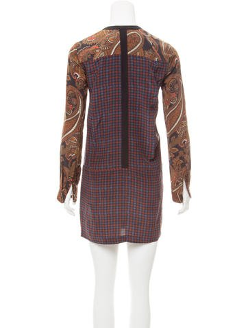 Silk Paisley Printed Dress