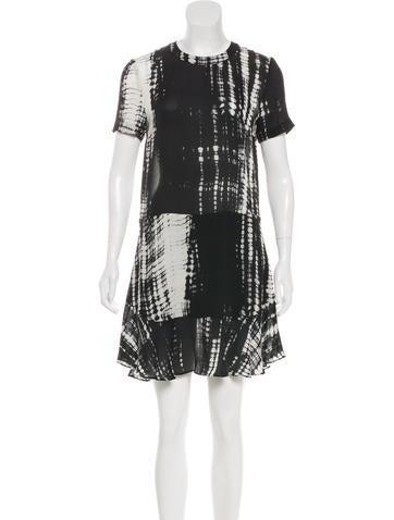 Silk Tie-Dye Dress