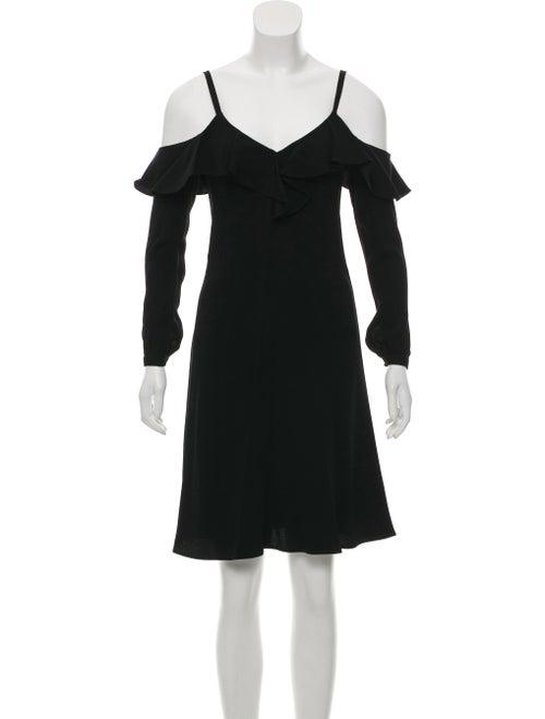 A.l.c. Felicia Cold Shoulder Ruffle Crepe Dress w/