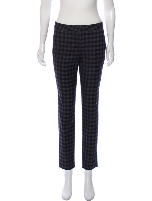 A.l.c. Checkered Skinny Pants Black