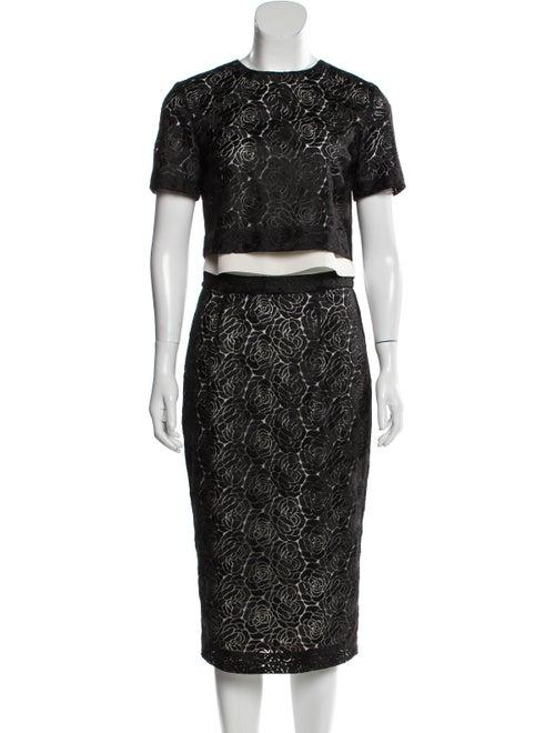 A.l.c. Floral Print Skirt Set Black