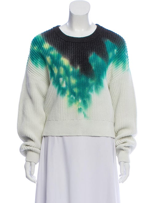 A.l.c. Tie-Dye Print Scoop Neck Sweater Green