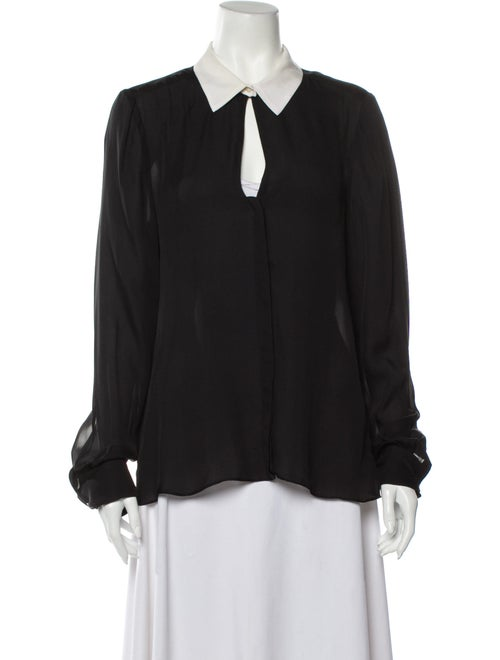 A.l.c. Silk Long Sleeve Blouse Black