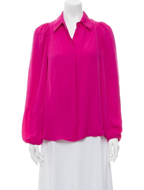 A.l.c. Silk Long Sleeve Blouse Pink