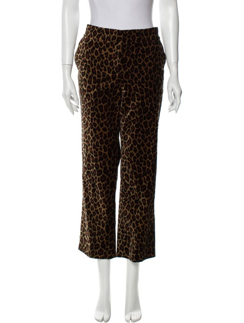 A.l.c. Animal Print Straight Leg Pants
